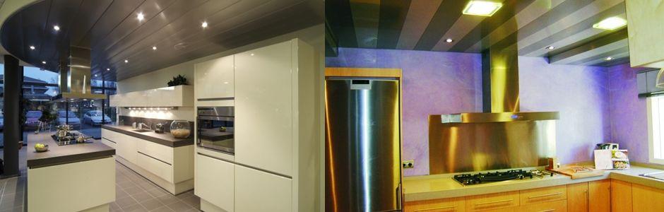 Trabajos profesionales techos de aluminio acústicos para cocinas