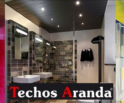 Trabajos profesionales techos de aluminio decorativos para baños