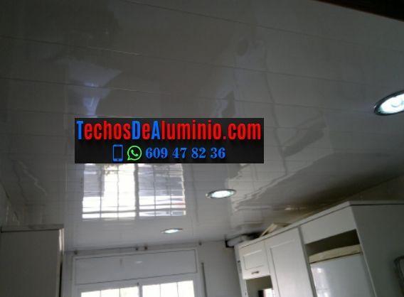 Trabajos profesionales techos de aluminio decorativos para cocinas