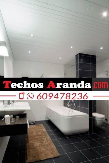 Trabajos profesionales techos de aluminio lacados para baños