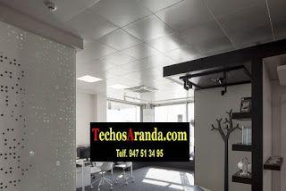 Trabajos profesionales techos de aluminio registrables decorativos
