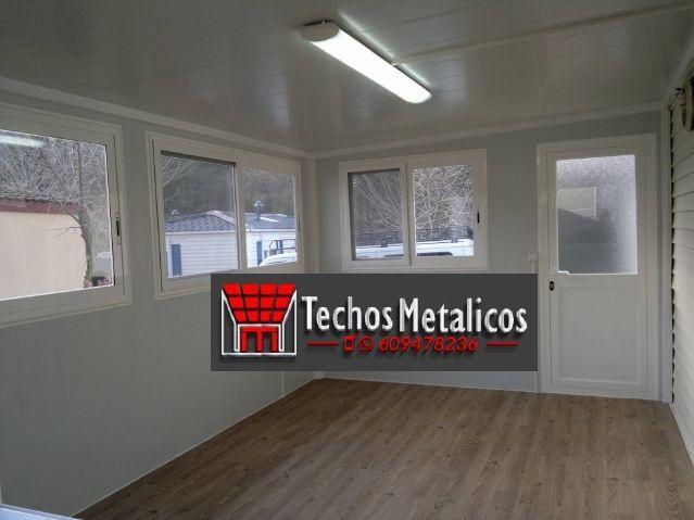 Trabajos profesionales venta techos de aluminio lacados