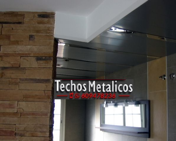 Trabajos techos de aluminio lacados