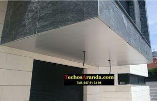 Trabajos venta techos de aluminio desmontables decorativos