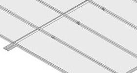 Techo lama bandeja aluminio